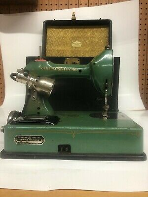 Vintage Standard Sewhandy Sewing Machine By General Electric Early Green Enamel