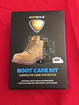 New SofSole Boot Care Kit CLEANING PROTECTION SET