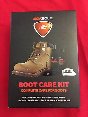 New SofSole Boot Care Kit CLEANS BRUSH ERASE STAINS SOF SOLE
