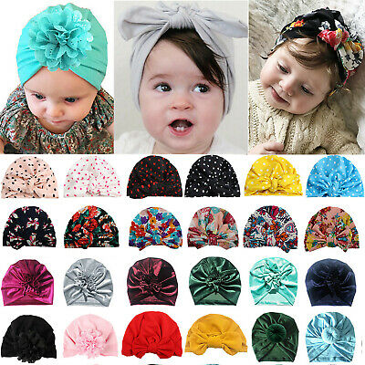 Infant Newborn Kid Turban Head Wrap Kids Boy Girls India Beanie Hats Soft Cap