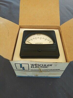 Weschler RX-351 Analog Panel Mount Volt Meter 0-50 Volts DC New in box +Hardware