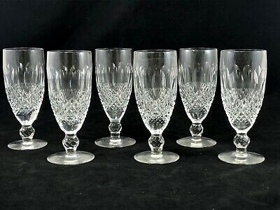 Waterford Colleen Short Champagne Flutes 6 Inches Tall Mint Condition