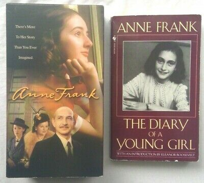 Anne Frank: The Diary of a Young Girl Book & VHS Movie Bundle