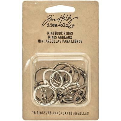 New Tim Holtz Idea-Ology - Mini Book Rings - 18 Pack - #TH93272