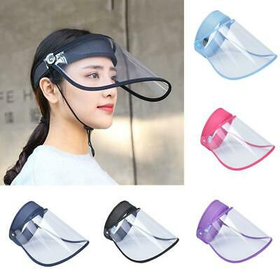 1X Unisex Hat-Mounted Transparent Hat Anti-fog Saliva Face Shield Eye Protective