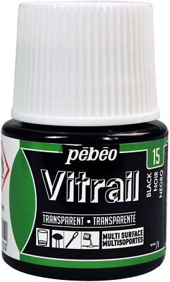 PEBEO Vitrail Stained Glass Effect Paint 45-Milliliter Bottle, Black ##COMMA##