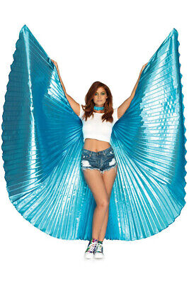 Pleated Blue Isis Wings Festival Costume Accessory Genuine Leg Avenue NEW