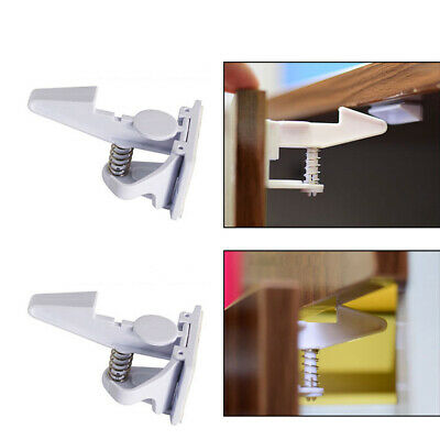 10x Baby Safety Cabinet Locks Invisible Protect Child Kids Proof Cupboard Drawer