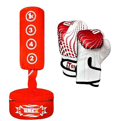 Kids Boxing FREE STANDING Punch bag Junior heavy Duty MMA Training Strike Pad