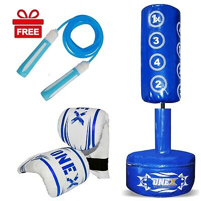 kids Junior Freestanding punching bag Martial Art Training Kick Stand Pad Boxing