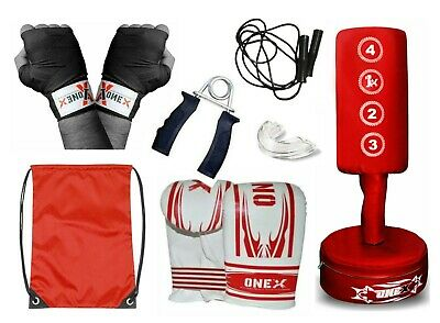 Kids Free Standing Adjustable Punch bag Set Heavy Duty Punching MMA Training