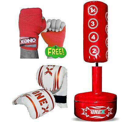 Free Standing Boxing Punch Bag MMA Martial Arts Strike Kick Training Kids Junior