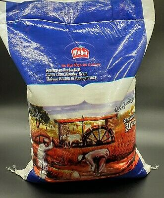 Mughal Pure Basmati Rice 20kg Naturally gluten free Suitable for Vegetarians