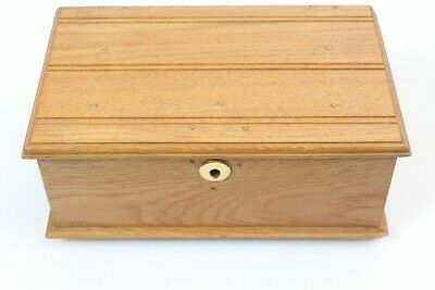 Small Wooden Chest with Feet oak Miniature Furniture Original Antique Box Solid