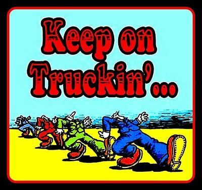 "4"" Keep on Truckin' vinyl sticker. Grateful Dead, R. Crumb decal 4 car, laptop."