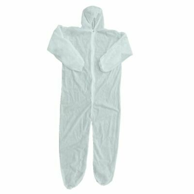 Protective Boiler Suit Coveralls Disposable Sterile Clothing White Waterproof