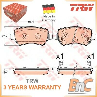 TRW GDB3585 BRAKE PAD SET DISC BRAKE Rear
