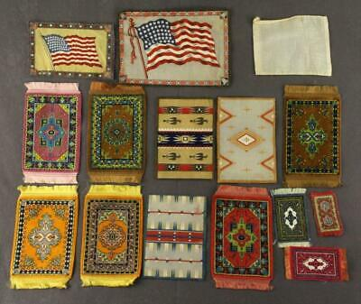 Vintage Advertising TOBACCO Felts Country Flags LUXURY Cigarettes Dollhouse Rugs
