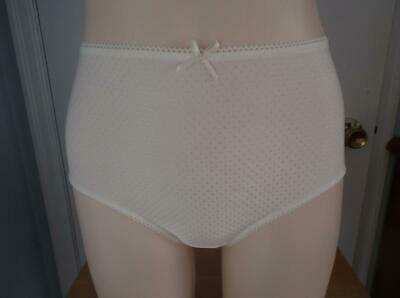 Vintage Panties Briefs Semi Sheer Lace Silky Shiny Sissy Lacy Lingerie Size S
