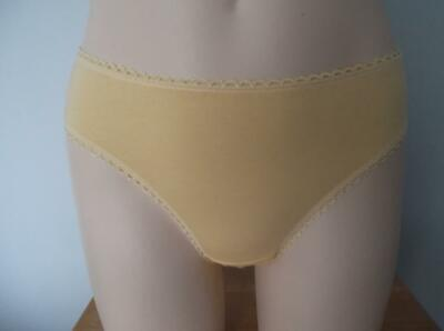 Vintage Panties Briefs Pelli Lace Cotton Hi High Cut Sissy Lingerie Lacy Size S