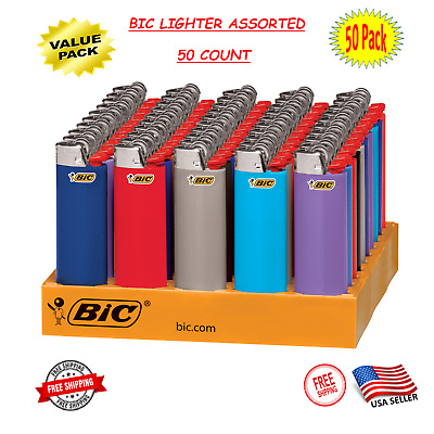 BIC Classic Lighter Assorted Colors - 50 Count - Fast Free Shipping ON SALE NOW