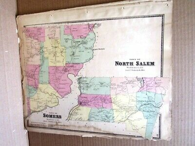 1867 Town Somers North Salem Maps Westchester County Ny  Beers Atlas