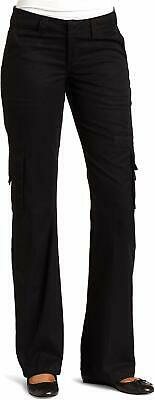 Dickies Women's Pants Black Size 14X32 Relaxed Fit Straight Leg Cargo $64- #424