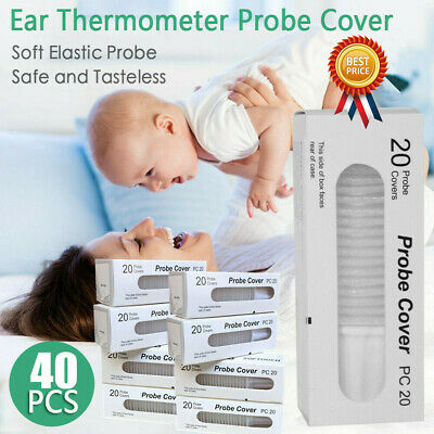 40pcs Braun Probe Covers Thermoscan Replacement Lens Ear Thermometer Filter Caps