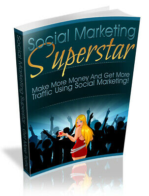Social marketing Superstar Pdf E book  Resell Rights Free Shipping Mrr master