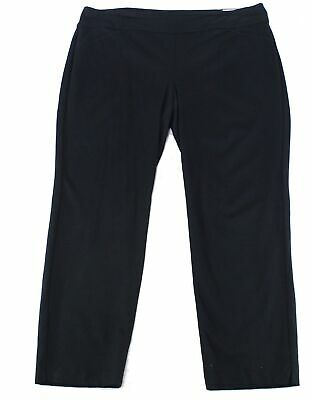 Charter Club Women's Black Size 22W Plus Pull On Slimming Pants Stretch $69 #585