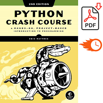 Python Crash Course, A Hands-On, Project-Based 2nd Edition Book (P.D.F)