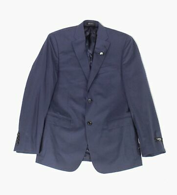 Lauren by Ralph Lauren Mens Blazer Blue Size 42 Slim Two Button Wool $450 #204