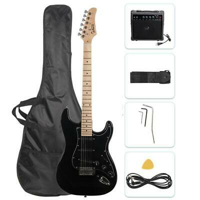 """Glarry 39"""" Electric Guitar for Music Lover Beginner with 20W Amp Black"""