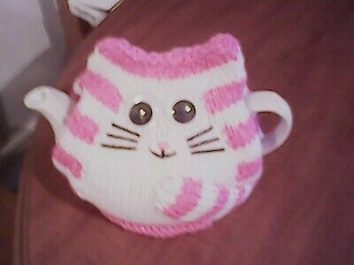 Hand Knitted Bagpuss Tea Cosy/Cozy/Cosies/Cozies