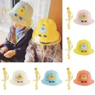 Kids Anti-spitting Protective Hat Dustproof Cover Peaked Cap Hat Adjustable New