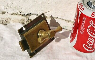 Antique ? Reclaimed Brass Wc Vacant Engaged Privacy Lock Twist Handle Only