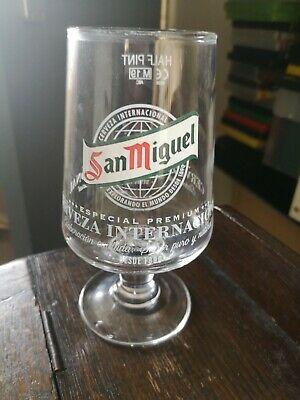 San Miguel Half Pint Chalice Glass