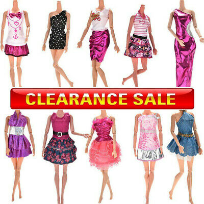 10xDresses for Barbie Doll Fashion Party Girl Dresses Clothes Gown Toy Gift Kid#