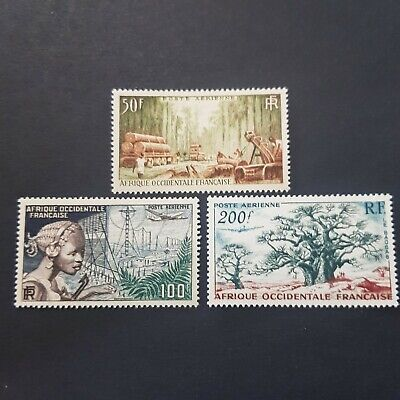 Afrique  Occidentale Aof Poste Aérienne N°18 A 20 Neuf ** Luxe Mnh Cote 28,80€