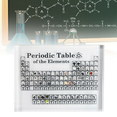 Periodic Acrylic Table Display of Elements Chemical Elements Table Teaching Tool