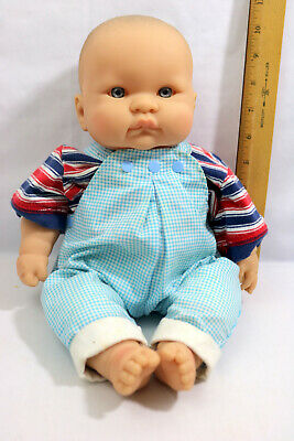 """16"""" Berenguer Baby Doll Infant Blue Eyes Cloth Body Pouting -ID#0223"""