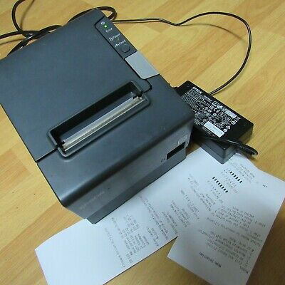 EPSON TM-T88V (M244A) ETHERNET POS THERMAL RECEIPT PRINTER (+Adaptor) _GOOD