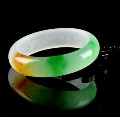 Chinese Natural Three color Jade Bangle Bracelet Fashion Charm Jewellery Gift