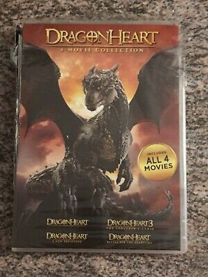 NEW DragonHeart: 4-movie Collection (DVD) DAMAGED CASES SEE PHOTOS