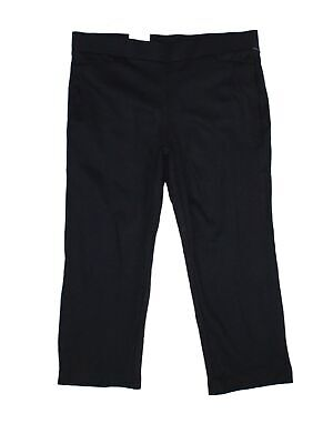 Style & Co. Women's Black Size 20W Plus Straight Cropped Pants Stretch $56 #371