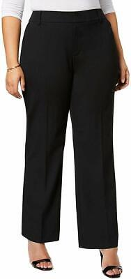 Charter Club Women's Black Size 20W Plus Relaxed Dress Pants Stretch $79 #144