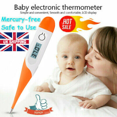 Digital LCD Thermometer Medical Baby Adult Body Safe Oral Electronic Temperature