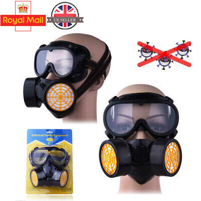 Gas Mask Survival Safe Chemical Anti-Dust Emergency Filter Face Mask Goggles Kit