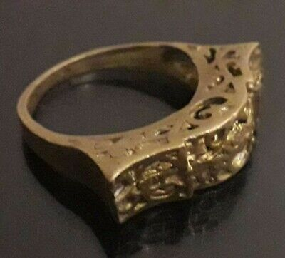 Rare Ancient Viking Ring Bronze Unique Artifact Old Quality Wearable Antique