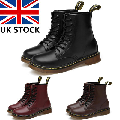 Womens Mens Classic Martins Boots Lace Up Combat Army Military Ankle Work